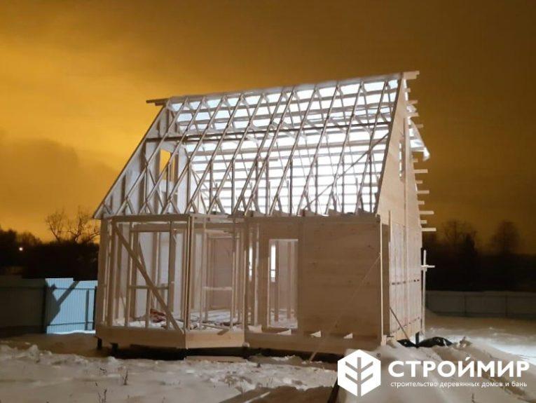 Каркасный дом по проекту К-62
