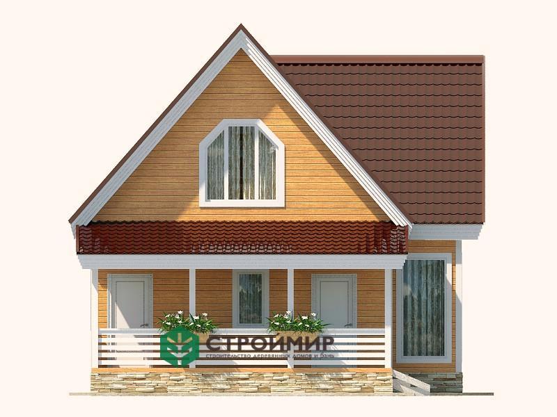 Каркасный дом 8х11,5, проект К-68