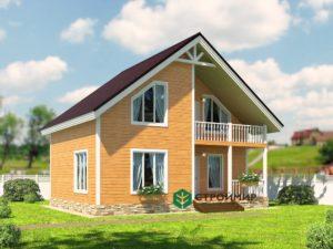 Каркасный дом 7х9, проект К-4