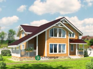 Каркасный дом 11.8х11.8, проект К-5