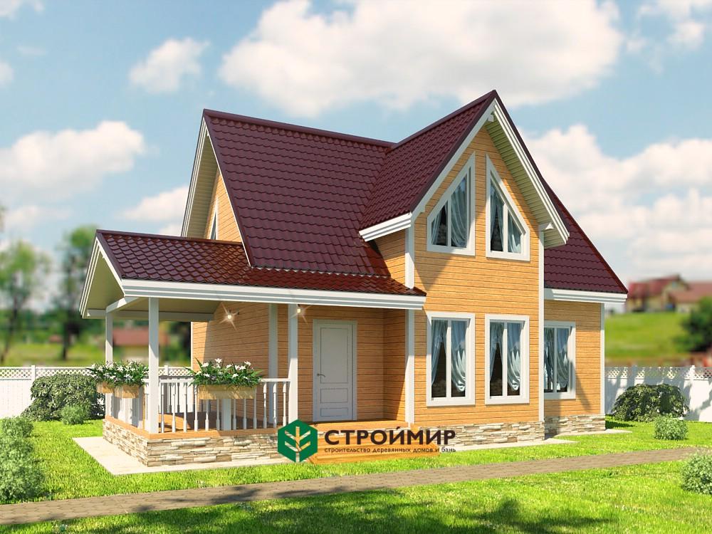 Каркасный дом 7х11,5, проект К-7