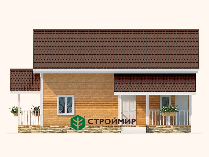Каркасный дом 7,5х9,5, проект К-6