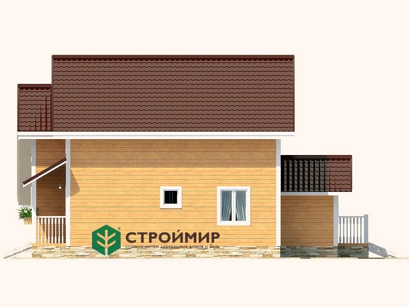 Каркасный дом 11.8х11.8 с котельной, проект К-5