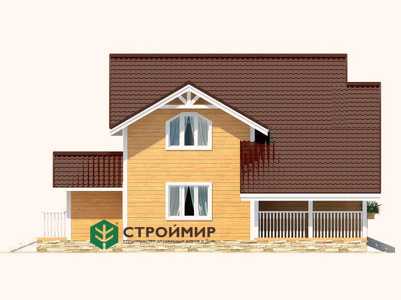 Каркасный дом 12х12 с котельной, проект К-130