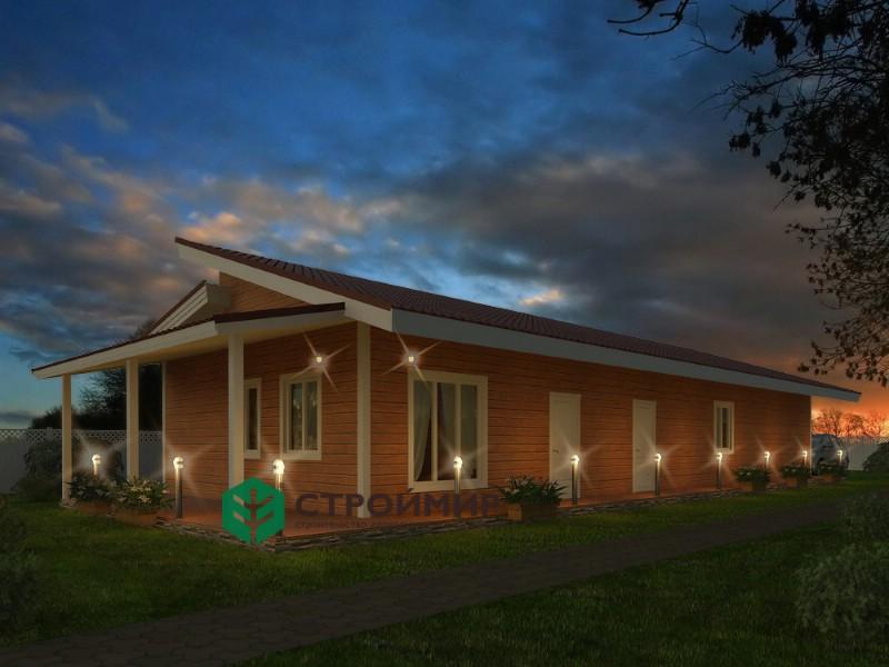 Каркасный дом баня 8х24, проект К-73