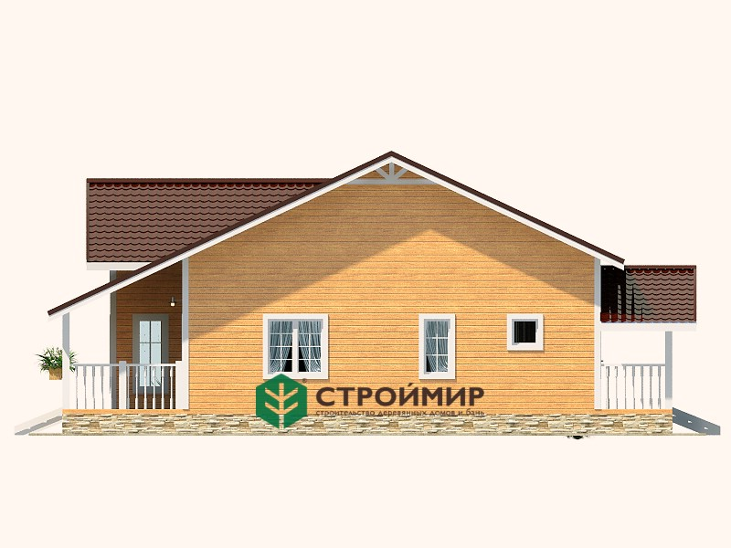 Каркасный дом 12,5х13, проект К-74