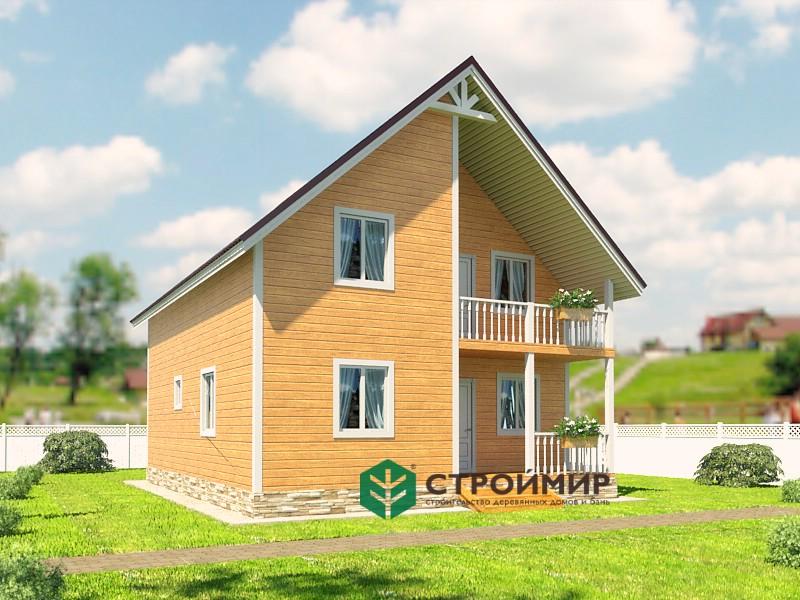Каркасный дом 8х10, проект К-84
