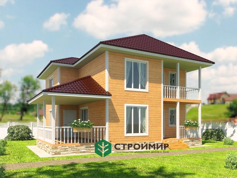 Каркасный дом 10x10.5 проект К-77