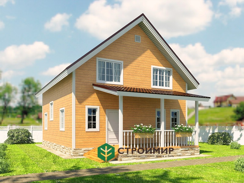 Каркасный дом 8x9,5 проект К-79