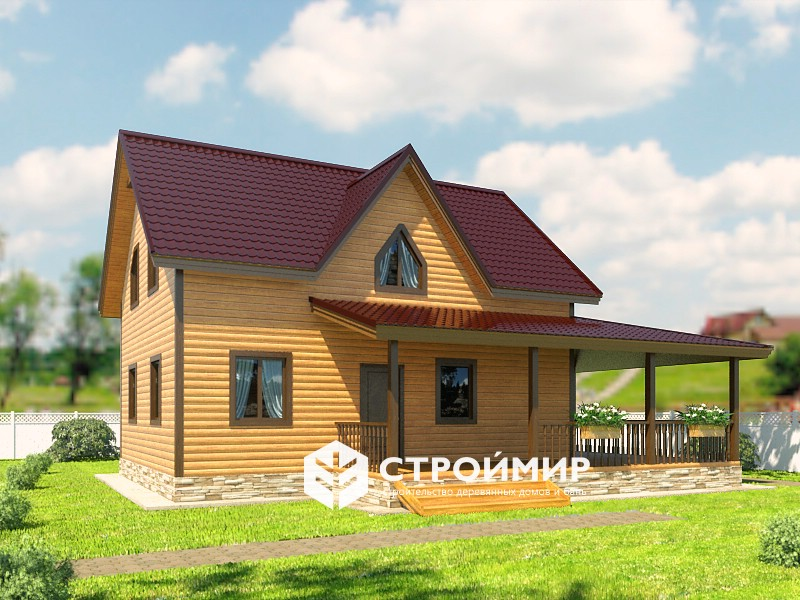 Дом из бруса 9,5х11,5  (проект Д-126)