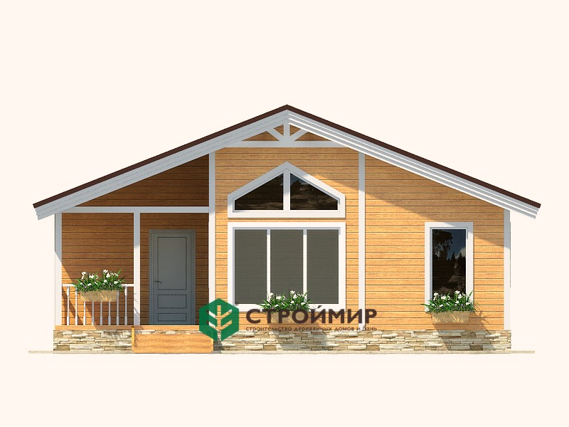 Одноэтажный каркасный дом 10х10 (проект К-85)
