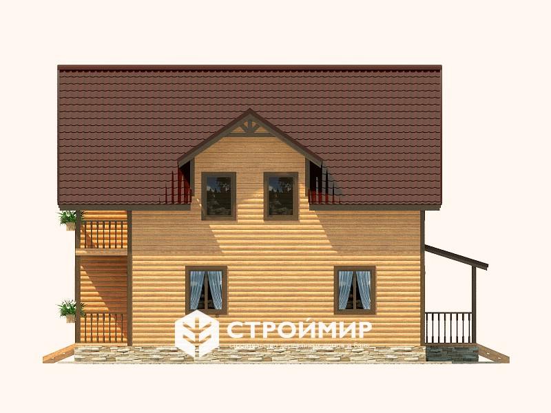 Дом из бруса (Д-123)