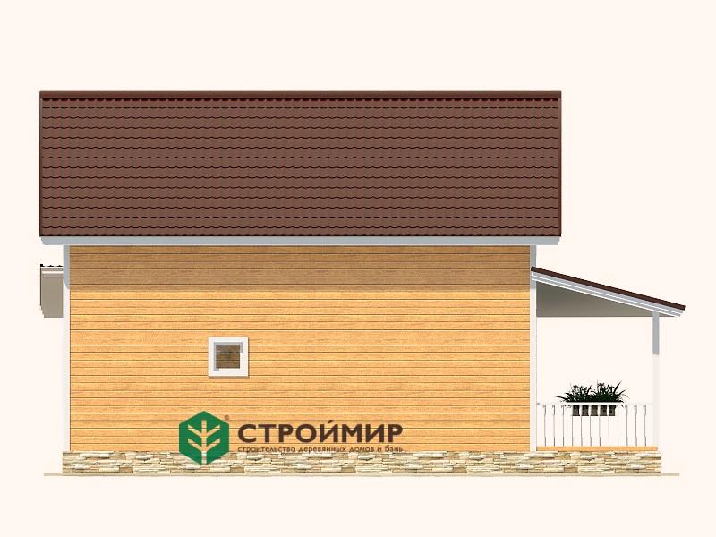 Каркасный дом 7,5х10, проект К-75