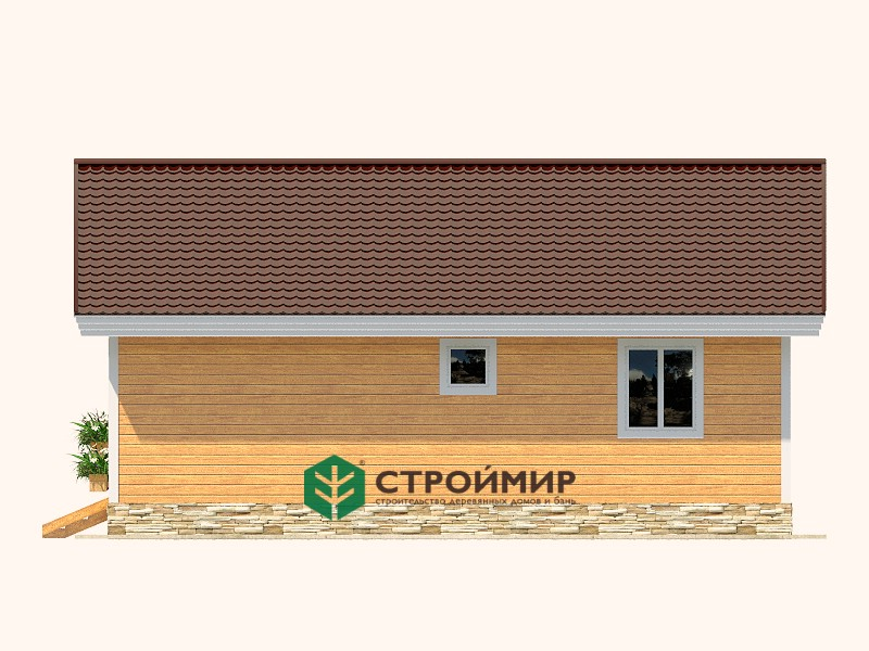 Одноэтажный каркасный дом 9,5х10 (проект К-85)