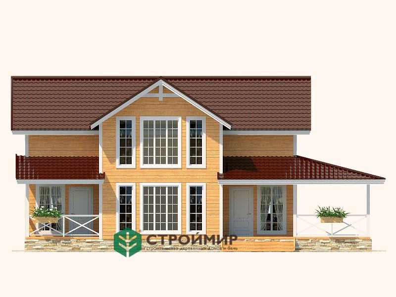 Каркасный дом 9х11, проект К-80