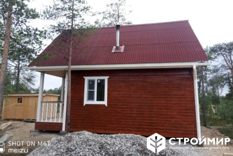 Каркасный дом с печкой