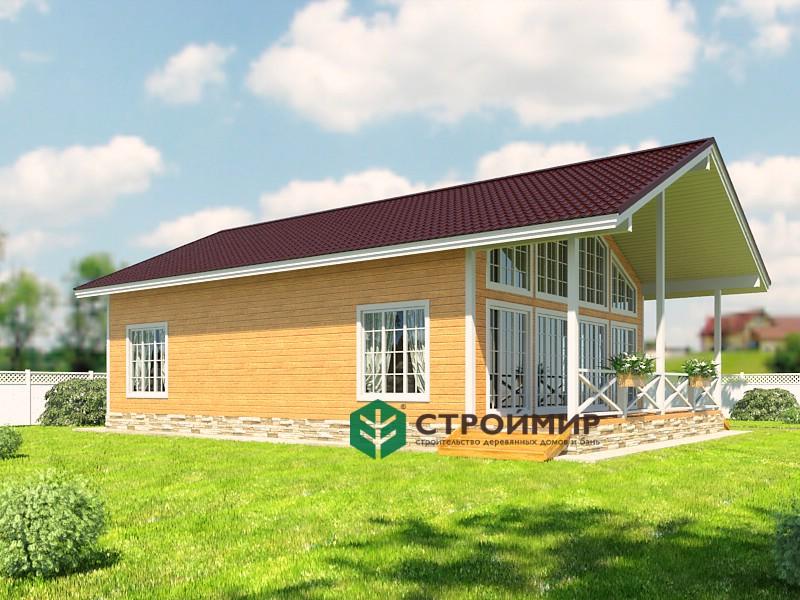 Каркасный дом 8х12 (проект К-91)