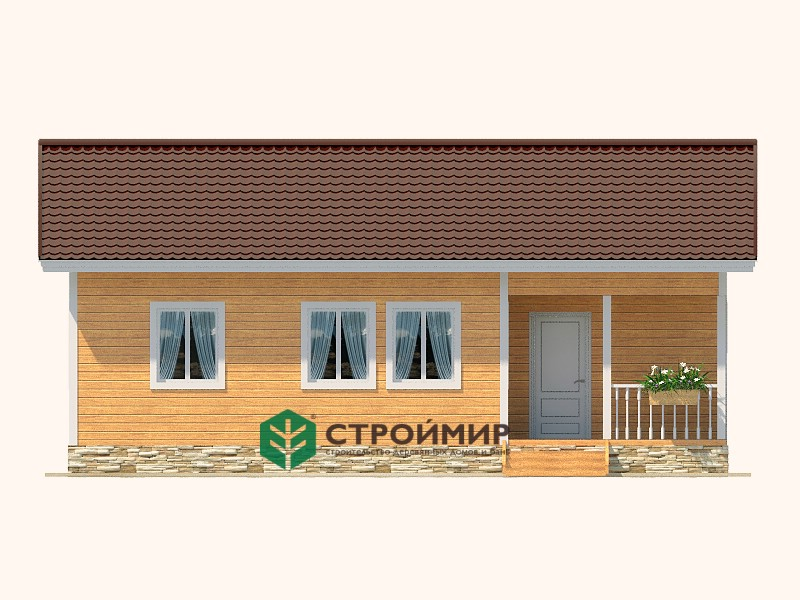 Каркасный дом 7х10 (проект К-89)