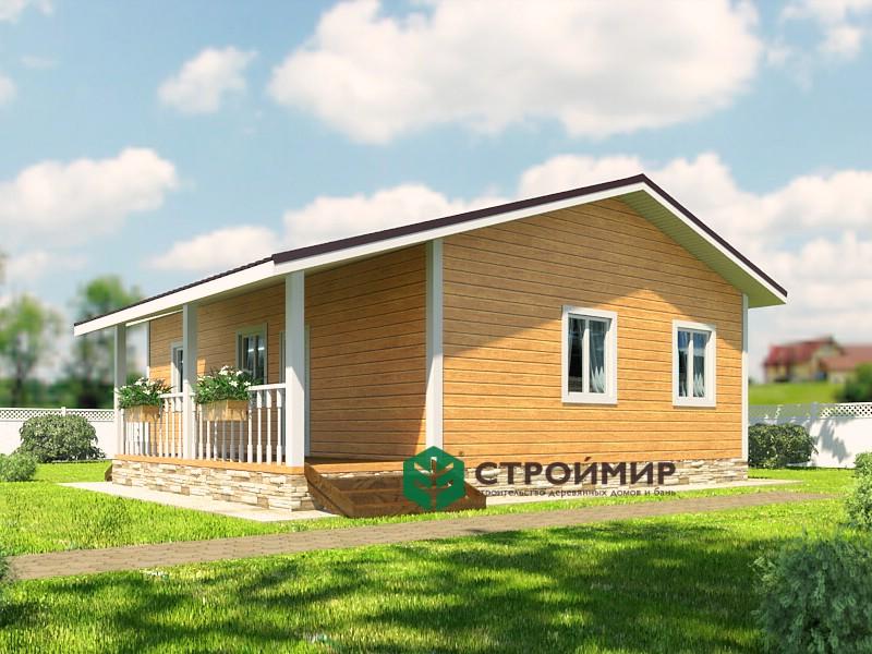 Одноэтажный каркасный дом 7х10 (проект К-92)