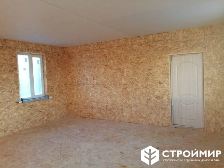 Одноэтажный каркасный дом 6х15
