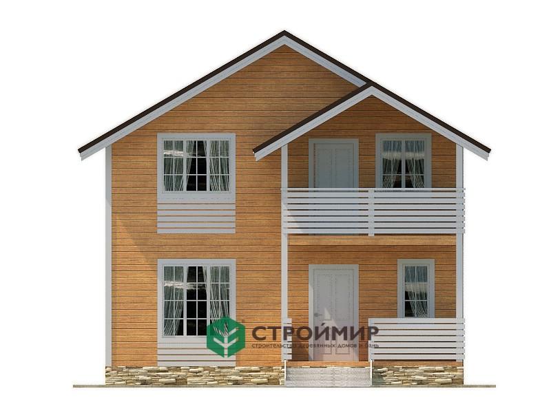 Каркасный дом 7,5х9,5 (проект К-100)