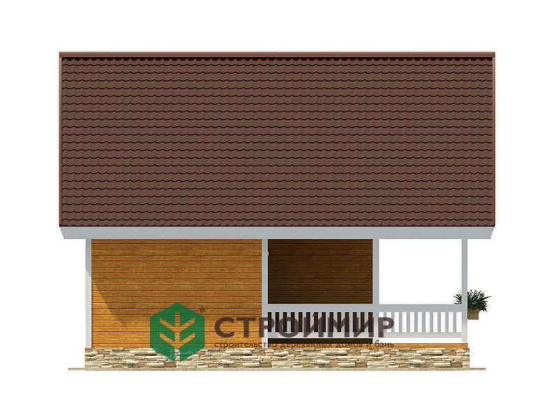 Каркасный дом 8,5х10, проект К-2