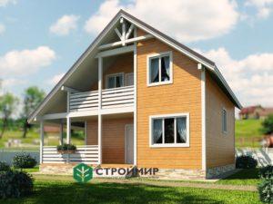 Каркасный дом, проект К-117