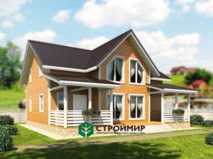 Каркасный дом, проект К-118
