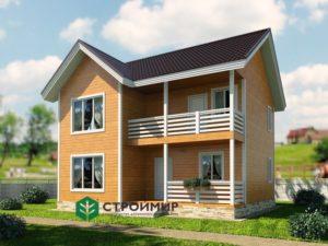 Каркасный дом, проект К-119