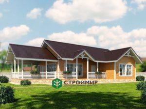 Каркасный дом, проект К-120
