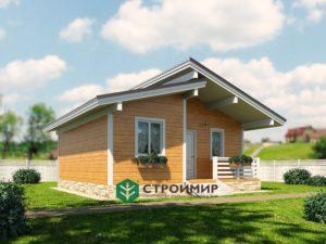 Каркасный дом, проект К-121