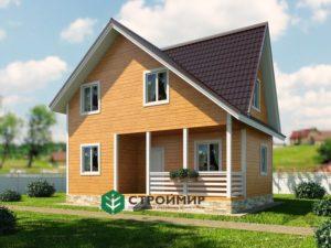 Каркасный дом, проект К-122