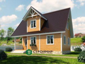 Каркасный дом, проект К-123