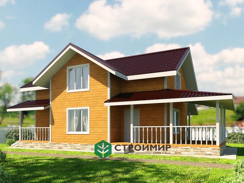 Каркасный дом 9х13.5, проект К-108