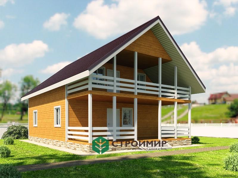 Каркасный дом 8х12, проект К-111