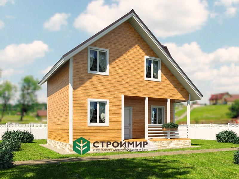 Каркасный дом 6х8, проект К-122