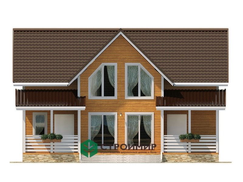 Каркасный дом 8х10.5, проект К-118