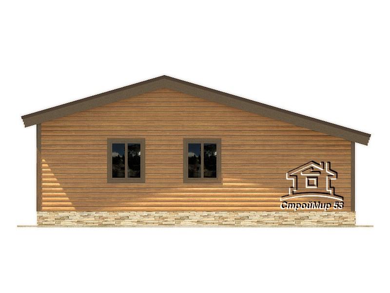 Одноэтажный дом из бруса 9х10 по проекту Д-5