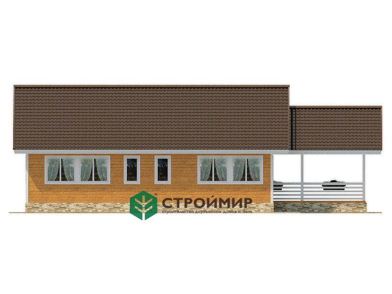 Каркасный дом 11х16.5, проект К-120