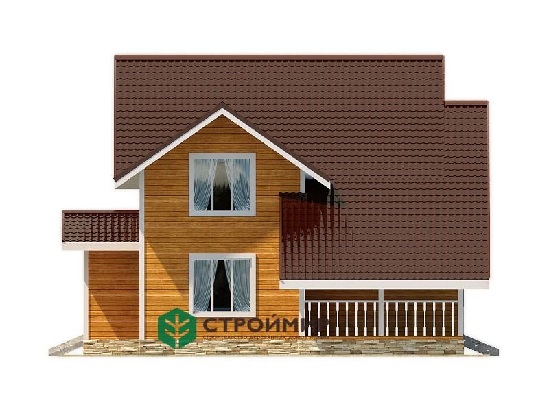 Каркасный дом 10х12, проект К-109