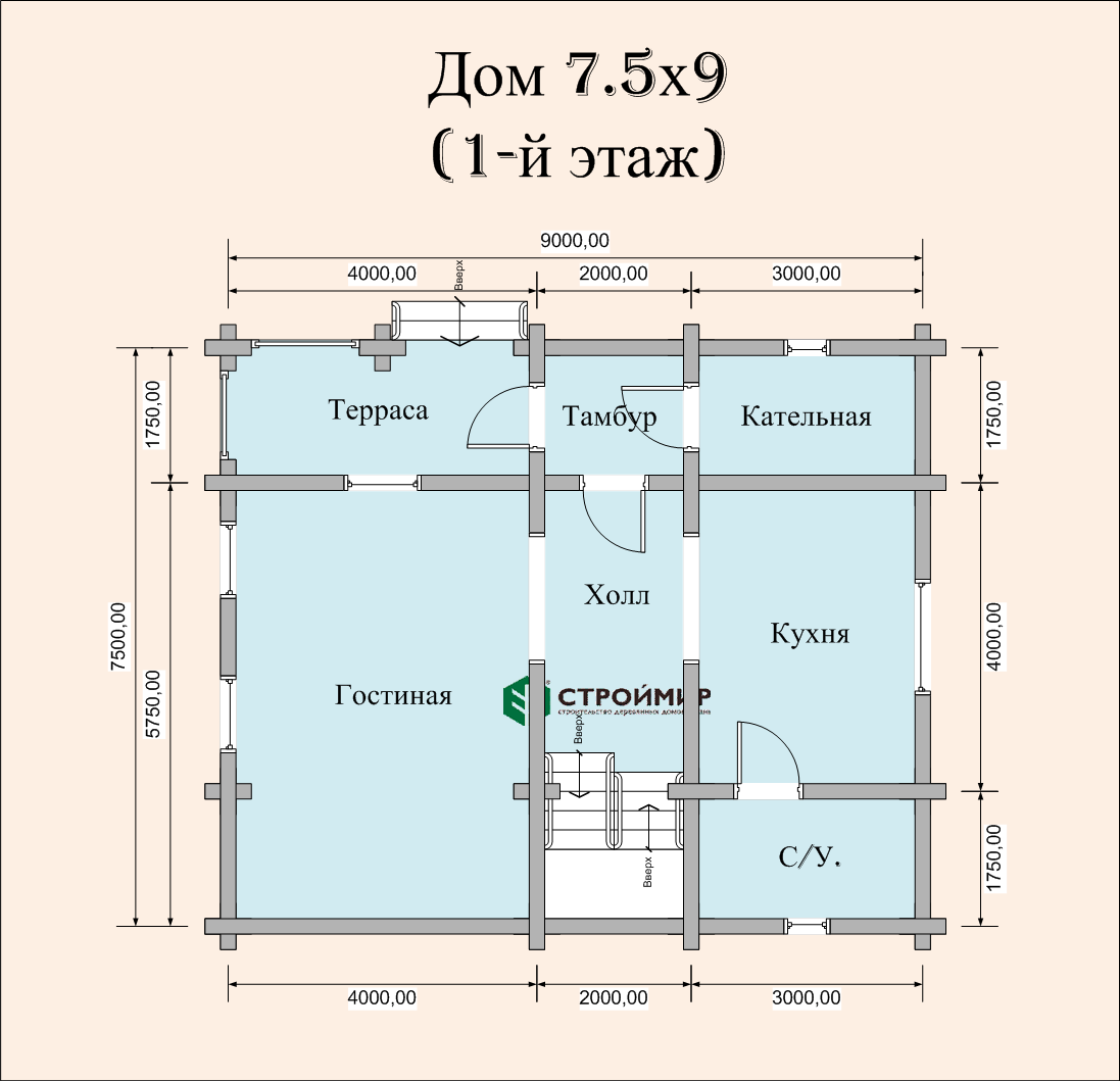 Дом из бревна ДБР-35