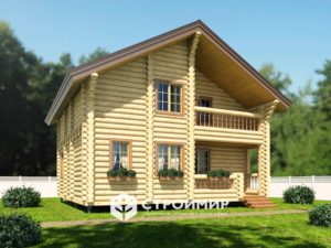 Дом из бревна ДБР-36