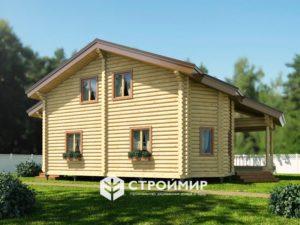 Дом из бревна ДБР-37