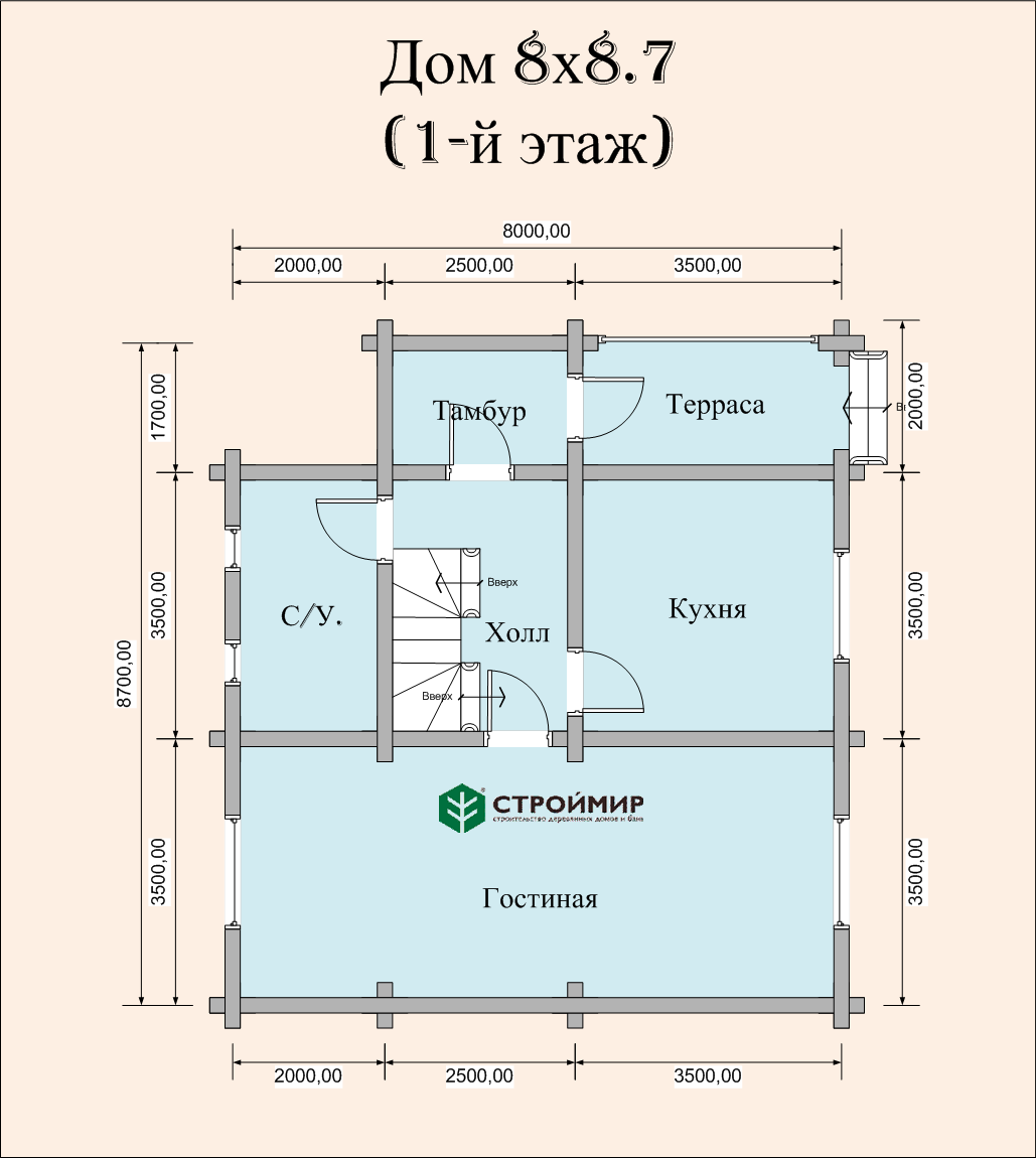 Дом из бревна ДБР-31