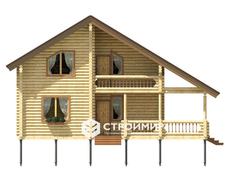 Дом из бревна ДБР-39
