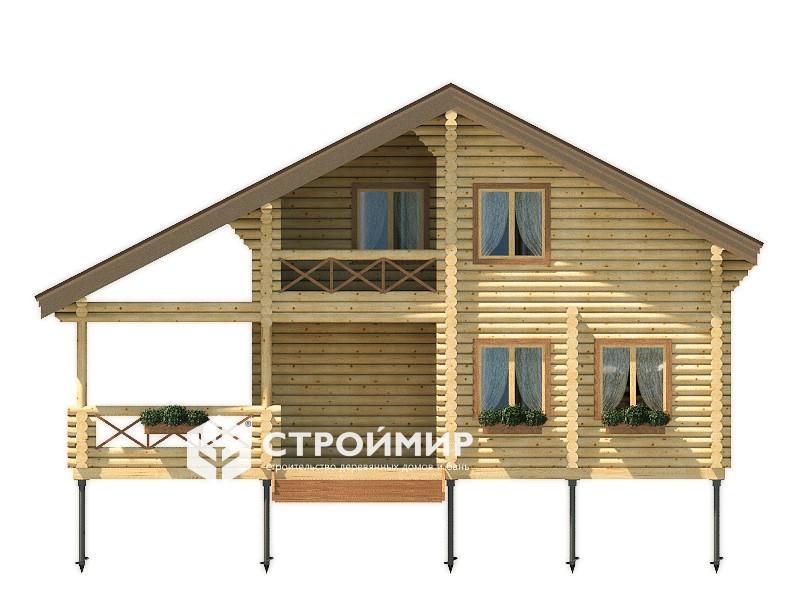 Дом из бревна ДБР-32