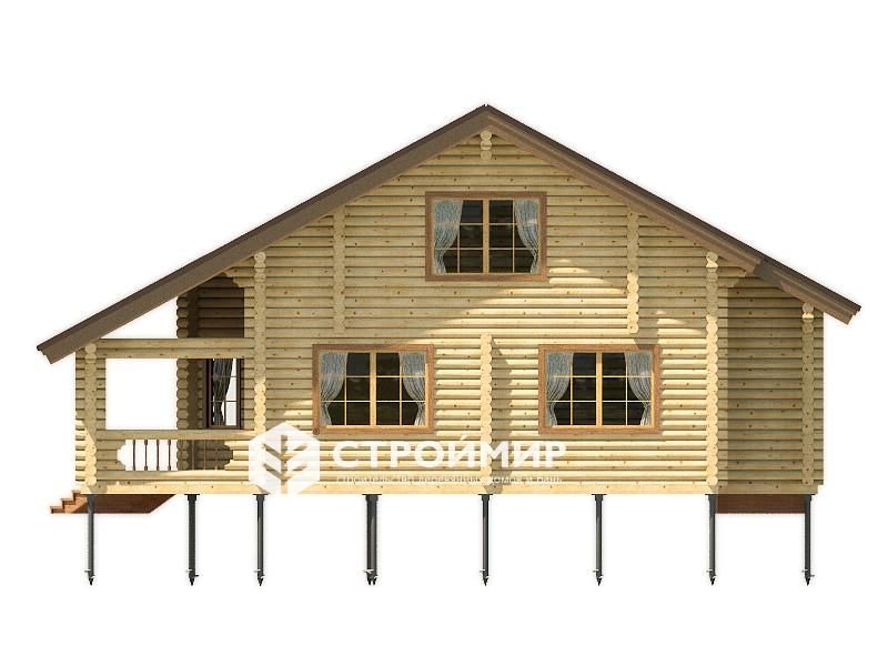 Дом из бревна ДБР-38