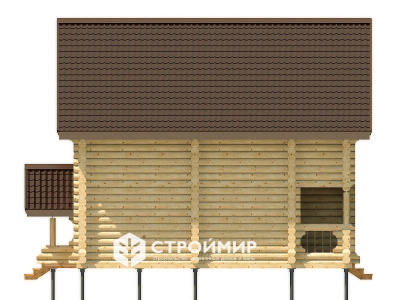 Дом из бревна ДБР-33