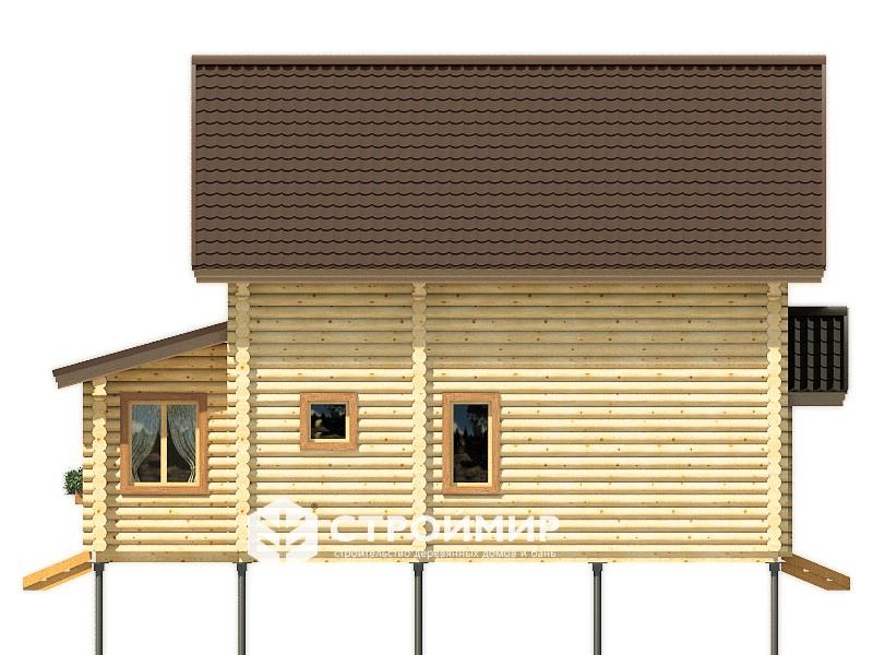 Дом из бревна ДБР-34