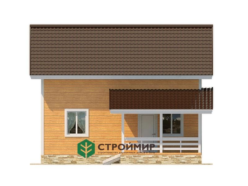 Каркасный дом 6х8, проект К-8